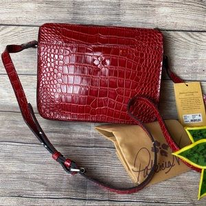 NWT Patricia Nash Nazaire Leather Croc Crossbody